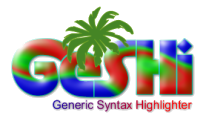 GeSHi - Generic Syntax Highlighter